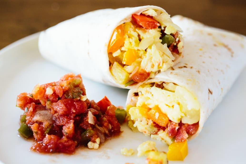 how to make freezer breakfast burritos