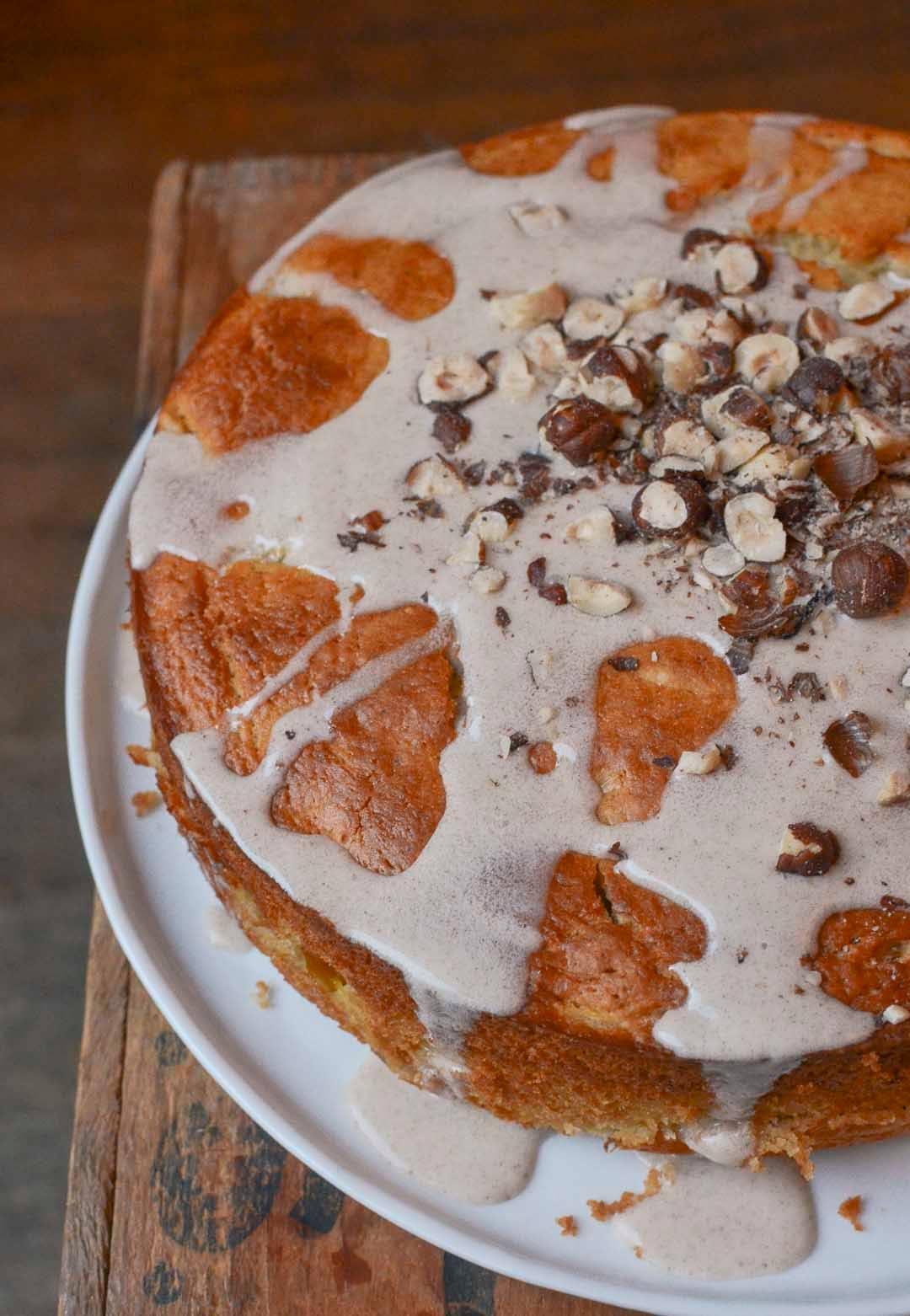 Easy Dessert Recipe Peach Yogurt Cake With Cinnamon Glaze Kitchn