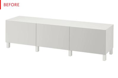 Ikea Metal Credenza : Ikea besta mid century modern credenza hack photos apartment therapy