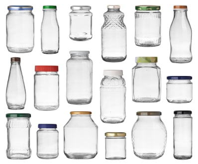how to remove labels from jars and turn jars into glassware