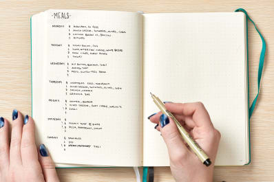 smart ways to use your bullet journal for meal planning kitchn