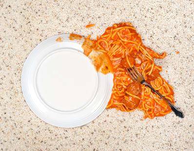 spaghetti on the ground