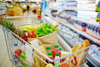 organize your shopping list into four sections