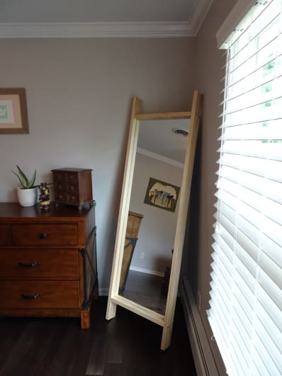 How To Make A Mirror Frame For A Floor Length Mirror Apartment Therapy