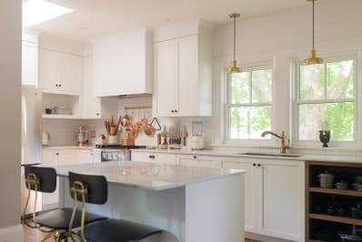 8 Ways To Deal With Those Awkward Kitchen Cabinet Soffits.  98cac5b8824ffa9dfec076061c9bc13f5981f2d1