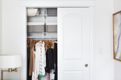 10 Affordable U0026 Easy Ways To Add Lighting To A Closet Without Wiring |  Apartment Therapy