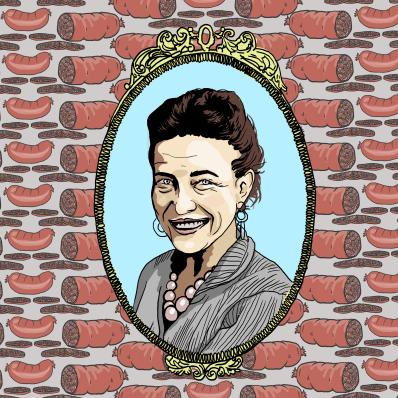 Simone de Beauvoir Illo