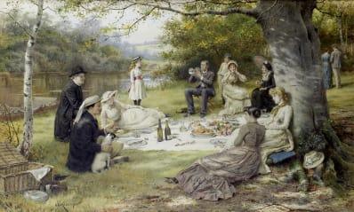George Goodwin Kilburne, The Picnic, c. 1900