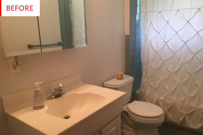 Cheap bathroom remodel vanity before and after apartment therapy Cheap bathroom remodel before and after