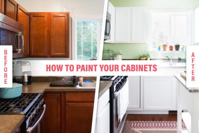 How To Paint Wood Kitchen Cabinets With White Paint Kitchn - Which paint to use for kitchen cabinets