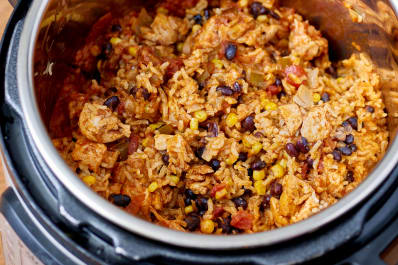Recipe Instant Pot Weeknight Chicken Burrito Bowls Kitchn