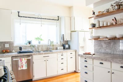 Heres How Hidden Cabinet Hacks Dramatically Increased My Kitchen - Apartment-therapy-kitchen