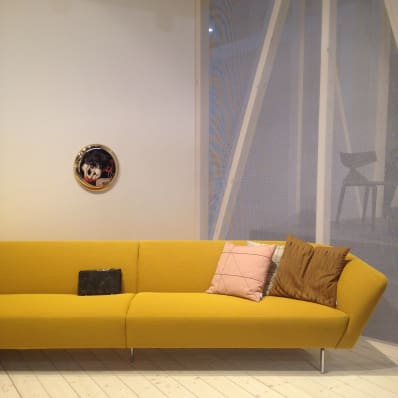 Modern Yellow Sofa at I Salone in Milan