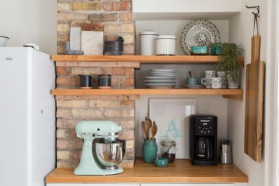 5 of the Most Gorgeous Tiny Kitchens with Open Shelving   Kitchn