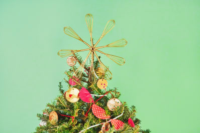how to make a christmas tree topper out of whisks kitchn - How To Make A Christmas Tree Topper