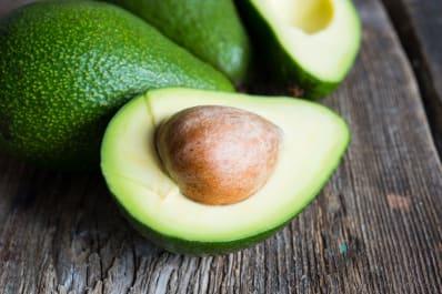 Underripe avocado