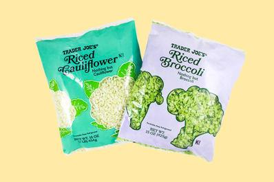Trader Joe's riced broccoli and cauliflower