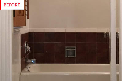 Vinyl Peel And Stick Tile Decals Bathroom Remodel Apartment Therapy
