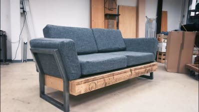 One Reddit User Built This Diy Reclaimed Sofa For 100 Apartment