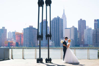 Real Weddings: Intimate Rooftop Wedding in NYC | Apartment Therapy