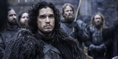 Jon Snow at The Wall as a member of the Nights Watch in Game of Thrones