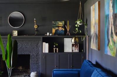 Black home decor Peach Apartment Therapy Matte Black Decor Matte Black Home Trend Apartment Therapy