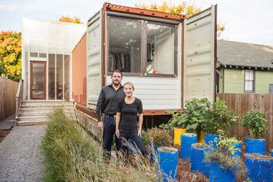 House Tour A Sleek Shipping Container New Orleans Home Apartment