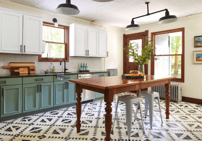 Yes, You Can Paint Your Entire Kitchen with Chalk Paint | Kitchn Diy Painted French Country Kitchen Cabinet Ideas on diy country banner, diy country home decor, diy country paint, diy country kitchen designs,
