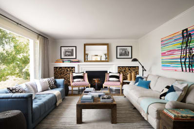 appealing apartment living room two couches facing each other | Why You Should Face Sofas to Save Space | Apartment Therapy