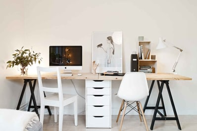 gallery choosing office cabinets white interior image credit stadshem via coco lapine design quick easy diy desk ideas projects apartment therapy