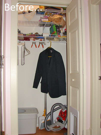 This Hallway Closet Needs Some Serious Assistance! Being The Only Closet In  Our Apartment Other Than Our Bedroom Closet, I Need To Utilize Every Inch  Of ...
