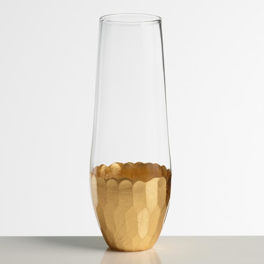 Gold Stemless Champagne Flutes