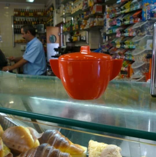 Red Sugar Bowl from Portugal