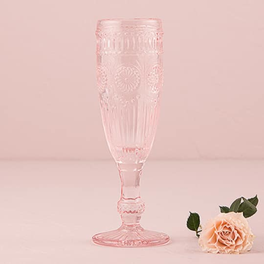 Vintage Style Pressed Glass Champagne Flute
