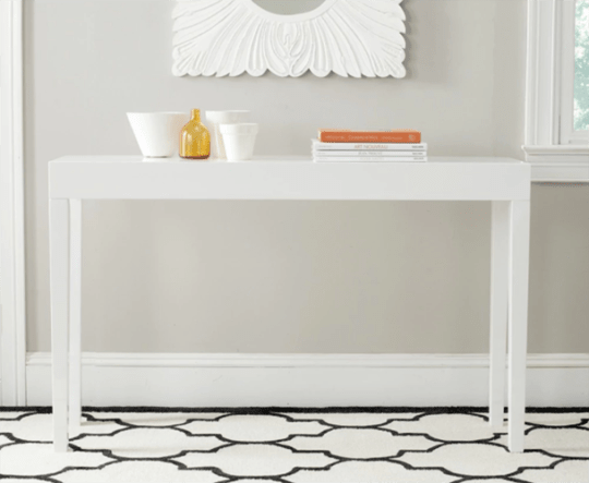 Safavieh Kayson White Lacquer Console Table at Overstock