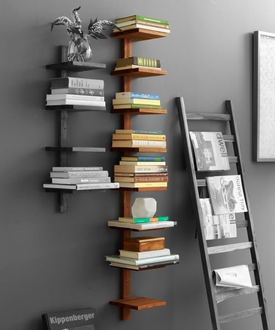 Teak Column Shelf