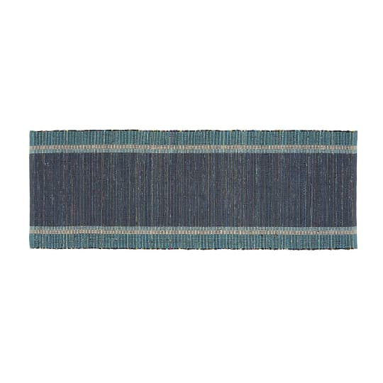 Quentin Denim Blue Rug Runner, 2.5'x6'