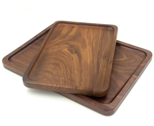 Wood Rectangular Serving Trays