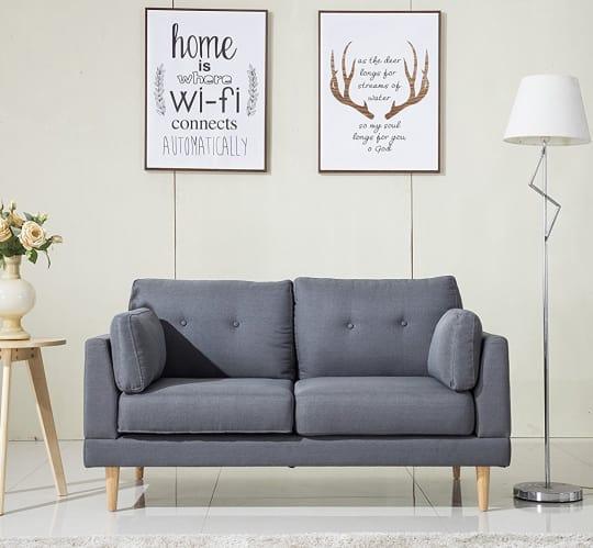 Mid Century Linen Fabric Sofa at Amazon