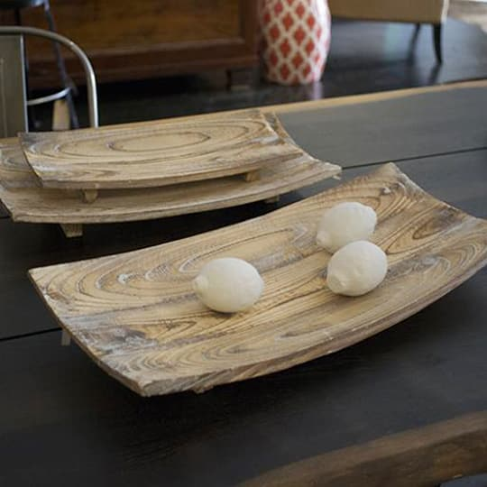 Large Wooden Table Tray from Mix:Home