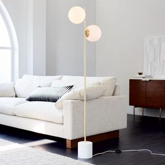 Sphere + Stem Floor Lamp at West Elm