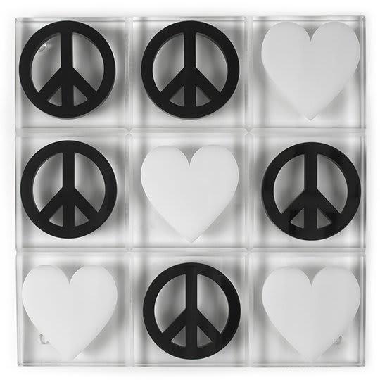 Peace & Love Tic Tac Toe Set by Jonathan Adler
