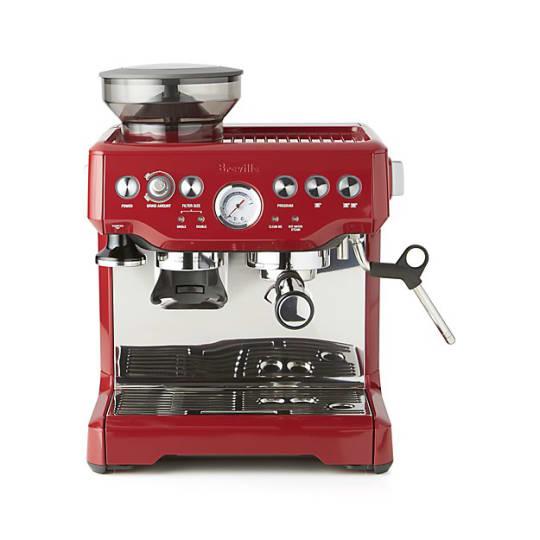 Breville Red Barista Express Espresso Machine