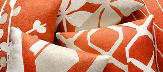 Arbor & Fauna Pillows in Coral