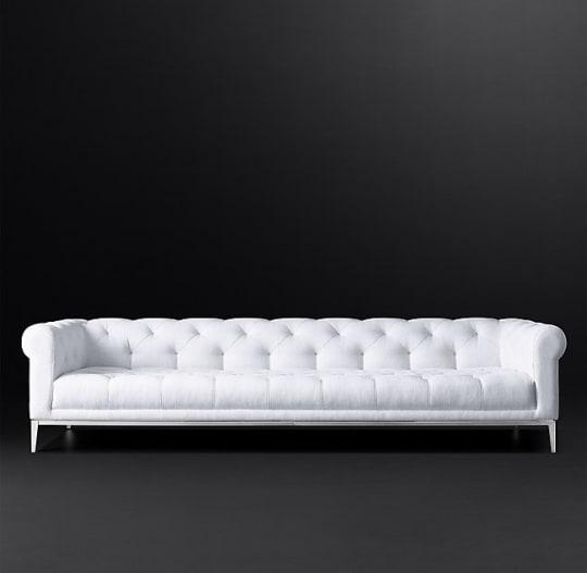 Italia Chesterfield Fabric Sofa at RH