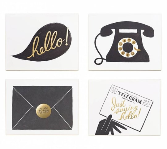 """Hello"" Assorted Card Set of 8 From Rifle Paper Co."