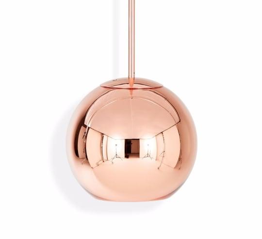Copper Round Pendant 25cm