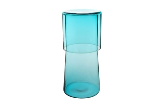 Bedside Carafe with Tumbler in Aqua