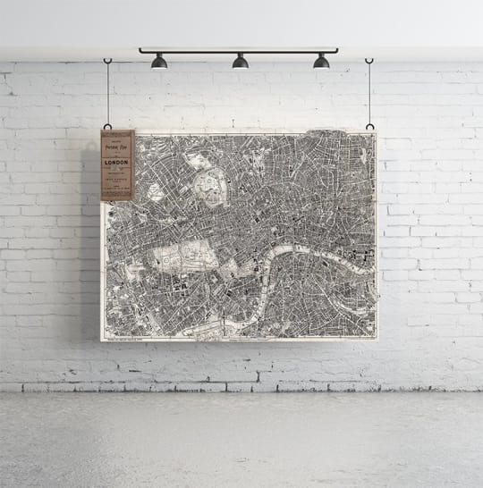 """Vintage Map of London 86"""" x 58"""" from Anewall Decor"""