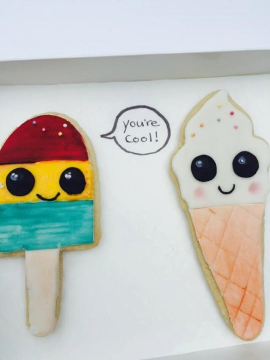 Bff 'You're Cool' Birthday Cookies from The Whimsical Cake Company